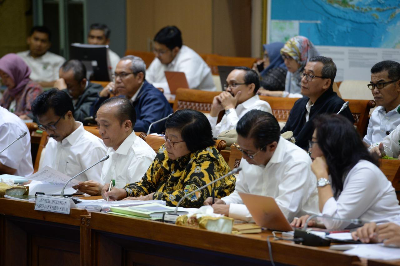 Menteri LHK Bahas Tiga Agenda Kerja dengan Komisi VII DPR RI