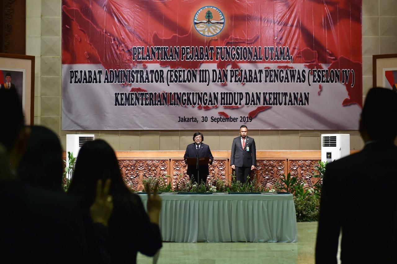 Isi Posisi yang Kosong, Menteri LHK Lantik 192 Pejabat di Lingkungan KLHK
