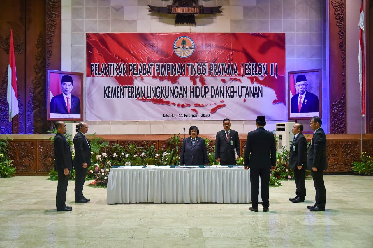 Menteri LHK Lantik Sepuluh Pejabat Pimpinan Tinggi Pratama Lingkup KLHK