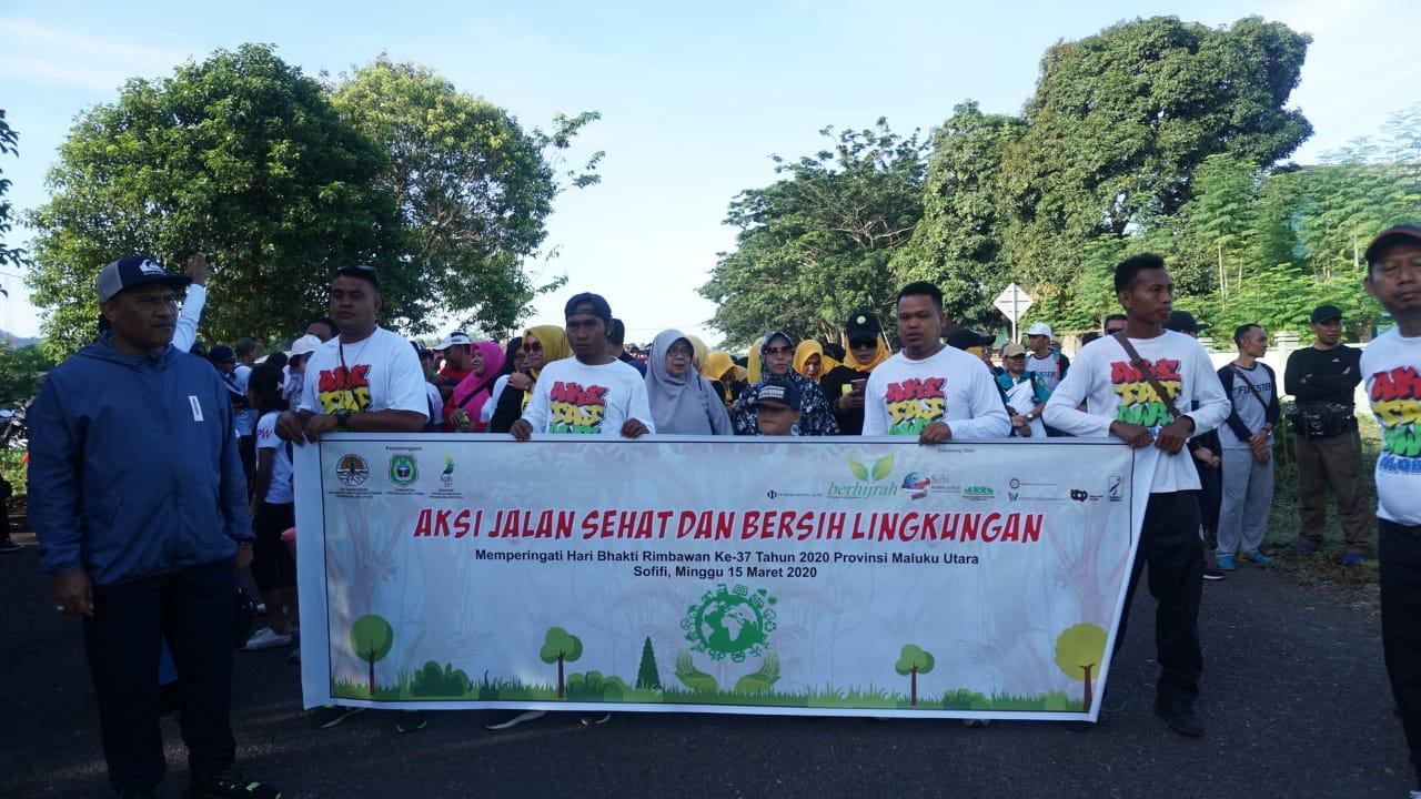 Kompak, Rimbawan Maluku Utara Bersama-sama Merayakan HBR ke-37