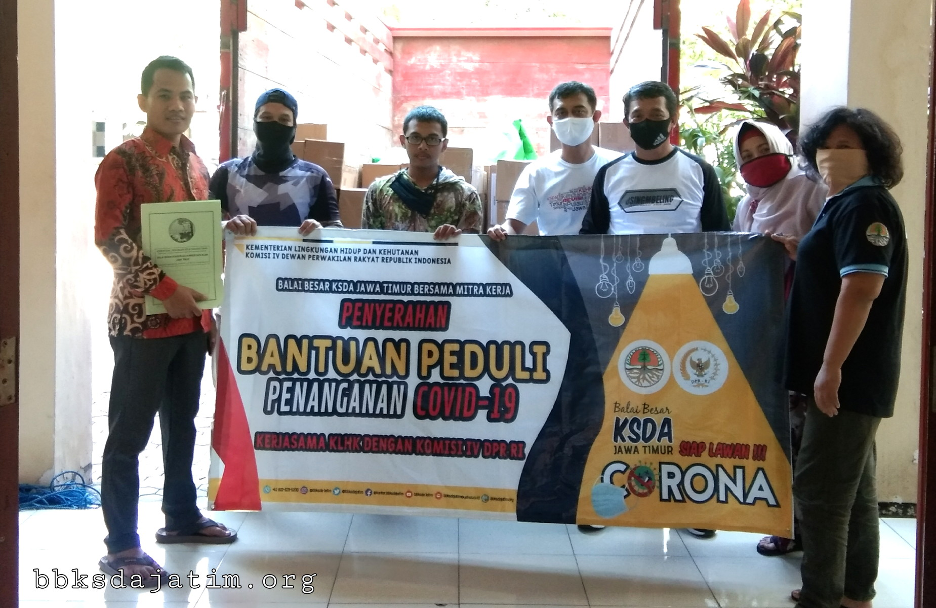 BBKSDA Jatim Salurkan Bantuan Penanganan Covid 19 di Jawa Timur