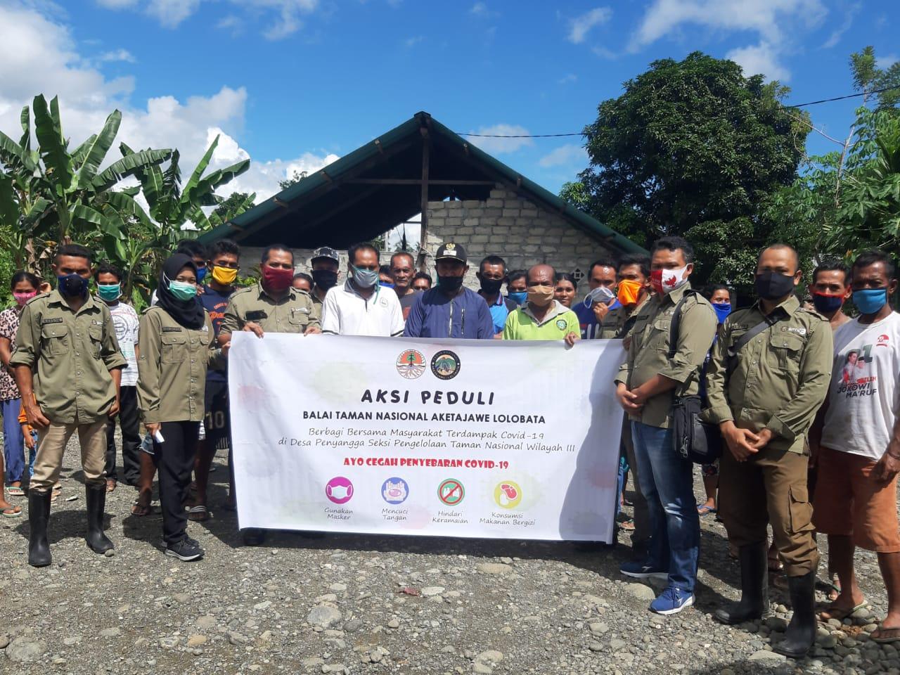 Aksi Peduli Covid-19 Balai TNAL Kepada Desa Penyangga SPTN Wilayah III Subaim