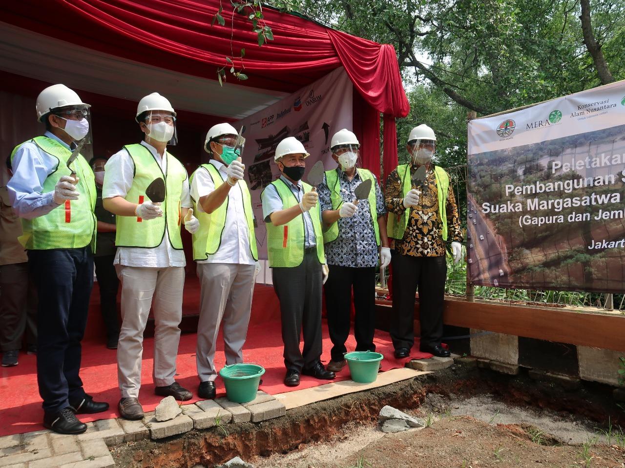 Peletakan Batu Pertama Pembangunan Sarana dan Prasarana Suaka Margasatwa Muara Angke Jakarta