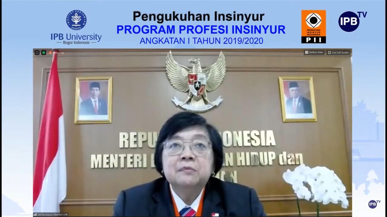 Menteri Siti Nurbaya: Pemerintah Mendukung Langkah dan Kiprah Profesi Insinyur Indonesia