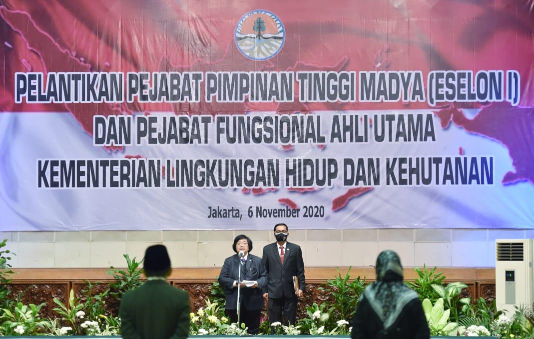 Lantik Pejabat KLHK, Menteri Siti Nurbaya Minta Jajarannya Dukung PEN dan Pemulihan Lingkungan