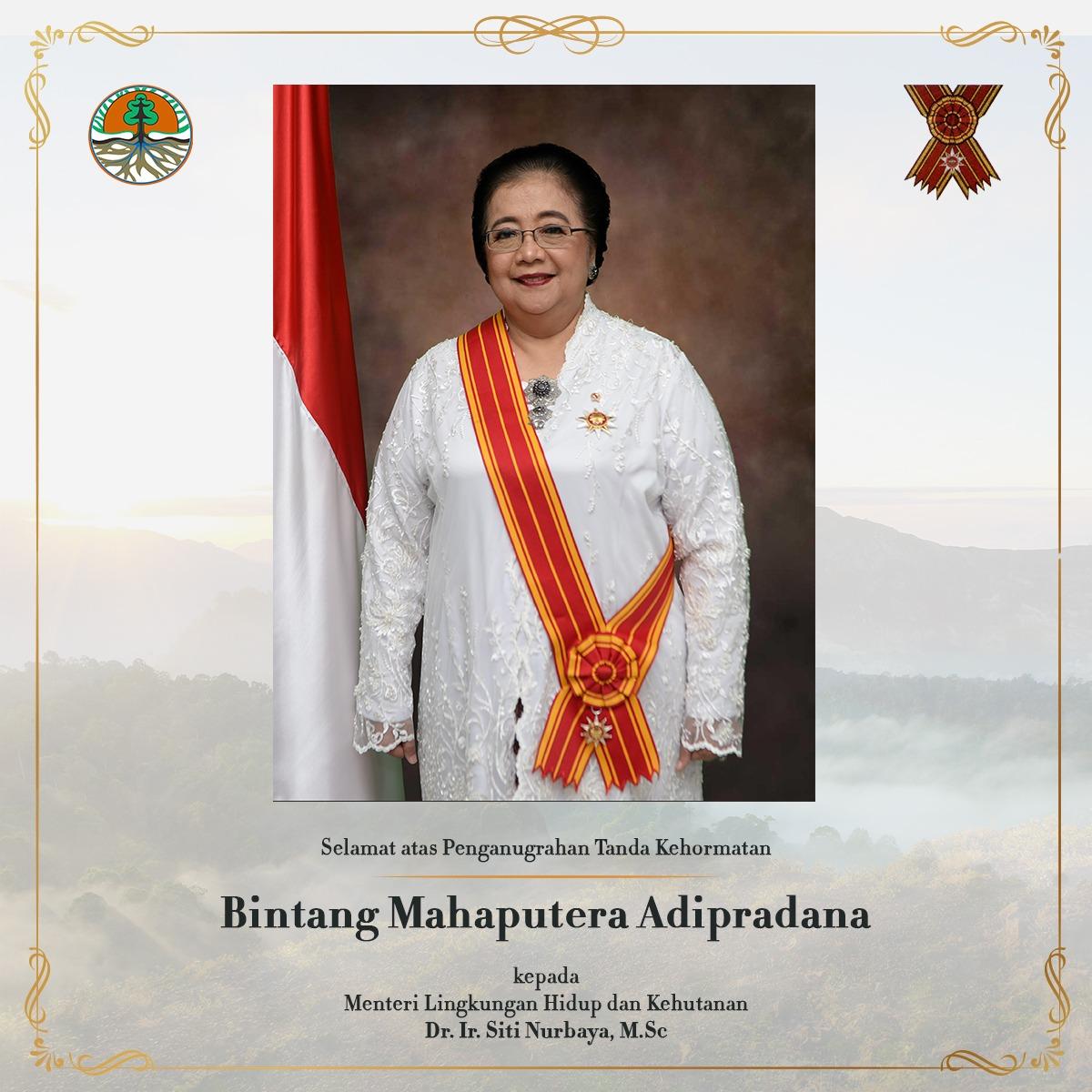Terima Bintang Mahaputera Adipradana, Menteri LHK: Untuk Ayah, Ibu dan Indonesia