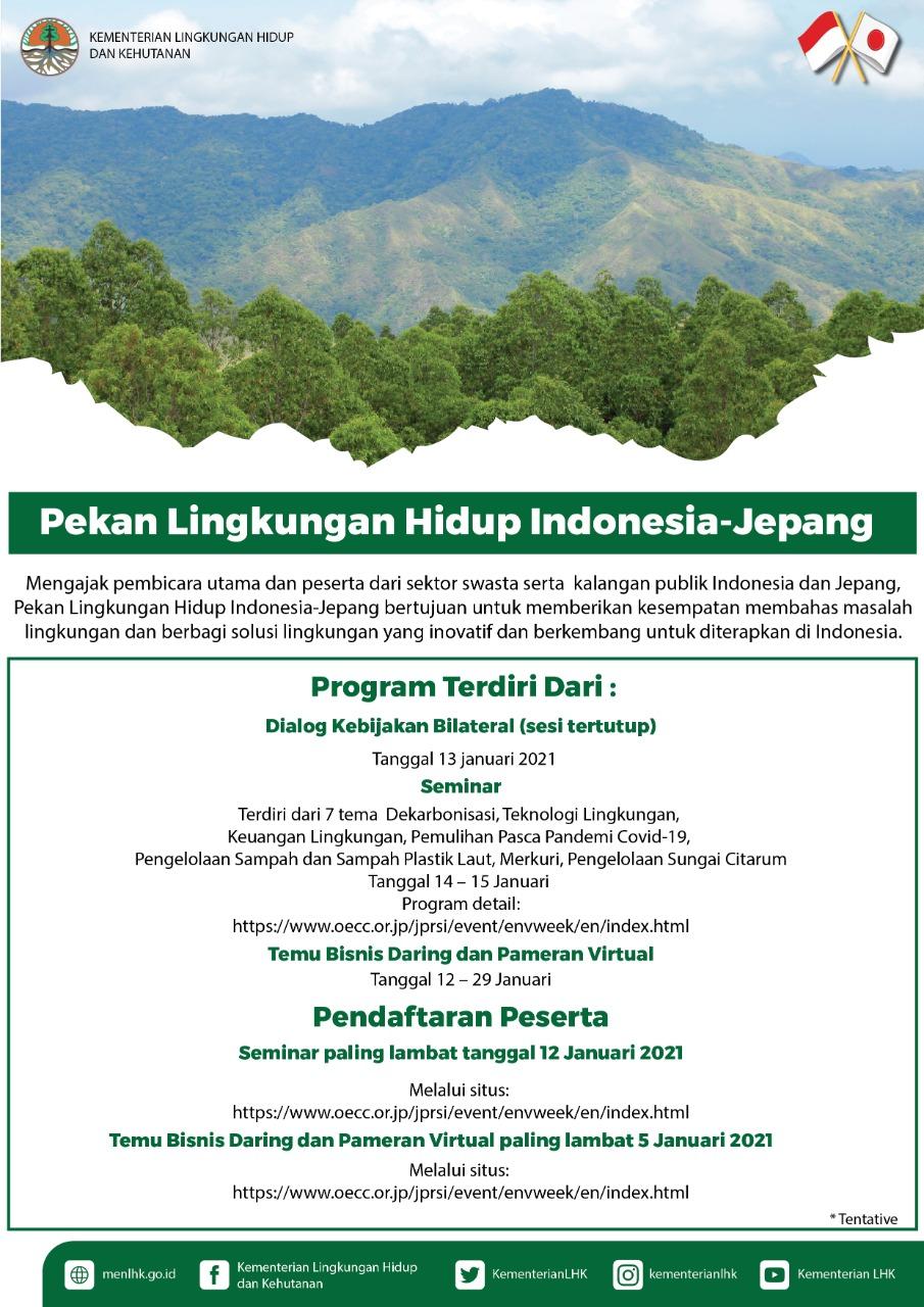 Pekan Lingkungan Hidup Indonesia - Jepang 2021