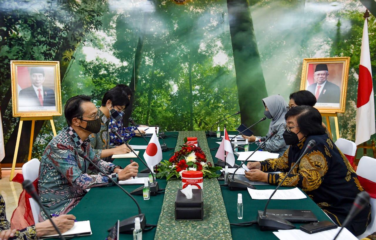 Menteri LHK Terima Kunjungan Kerja Dubes Jepang Baru