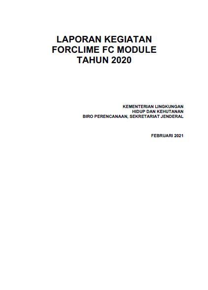 Laporan Kegiatan FORCLIME FC Module 2020