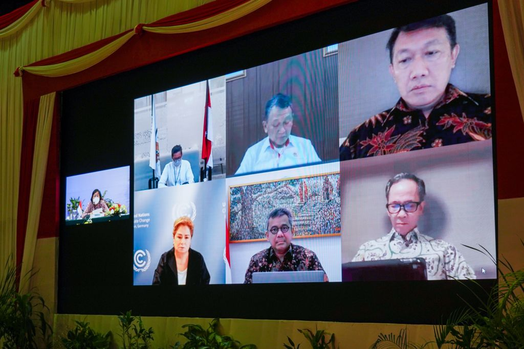 Diskusi Patricia Espinosa dengan Delegasi RI: 2 Menteri, 4 Wakil Menteri dan 2 Dubes RI, Jelang Konferensi Iklim COP 26 Glasgow