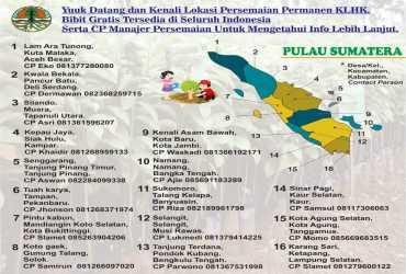 Lokasi Persemaian Permanen KLHK, Bibit Gratis Tersedia di Seluruh Indonesia