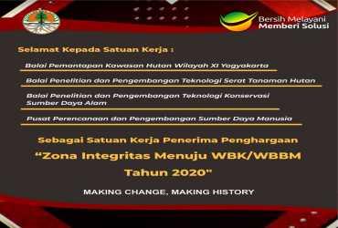 4 Satker KLHK memperoleh predikat Zona Integritas (ZI) menuju Wilayah Bebas Korupsi (WBK)