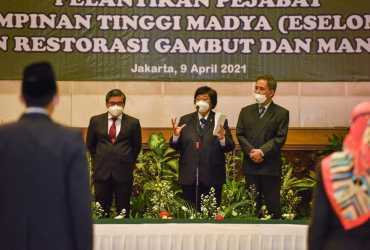 Gelar Pelantikan Pejabat Tinggi Madya, KLHK Dan BRGM Bersinergi Penuhi Target Presiden